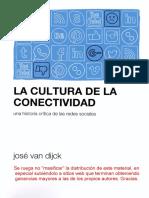 VAN DIJCK Jose La Cultura de La Conectividad 2016 PDF