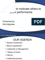 Leadership to Motivate Others to Peak Performance (1)