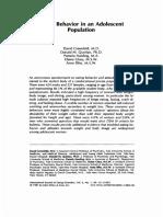 Eating Behavior in an Adolescent Population