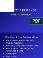 Quality Assurance- Roles & Challenges