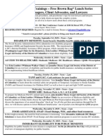 Public Benefits Training Series Flyer 2010