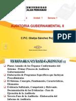 Auditoría Gubernamental II - Semana 07