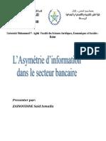Asymetrie d'Information