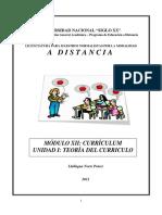 Modulo XII UNIDAD I Teoria Del Curriculo
