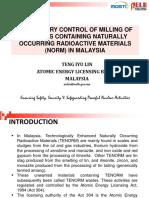 46.Teng (Malaysia) - Regulatory Control of NORM in Malaysia (1)