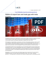 Edible Oil Export Ban and Trade Gap With India