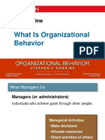 Chapter 1 What Is Organizational Behavior