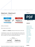 Maximal ≠ Maximum! — Math3ma