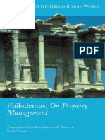 Philodemus - On Property Management