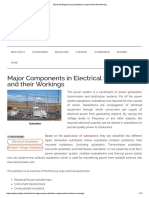 Electrical Engineering Substation Components With Working