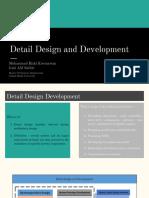 Detail Design and Development (Final)