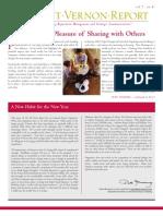 The Mount Vernon Report Winter 2007 - vol. 7, no. 4