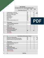 Rate Analysis interior
