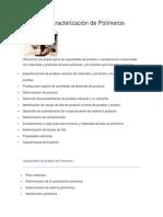 Prueba y Caracterización de Polímeros