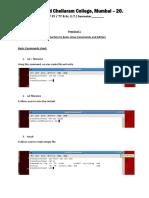Practical 1 Linux