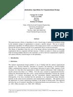 A Library of Optimization Algorithms for Organizational Design