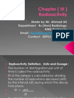 Nuclear Medicine Radioactivity Chapter 3