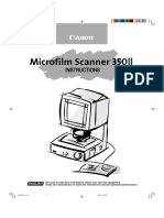 Canon Microfilm Scanner 350ii Owners Manual 587842