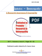 Research Updates - Homeopathy Volume 6 Issue 4 (2017)