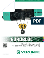 Verlinde Electric Wire Rope Hoist