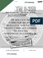 TM9-350 155mm Gun M2