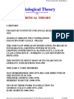 History of Frankfurt's Critical Theory
