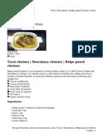 Beerakaya _ Ridge Gourd Chutney Recipe