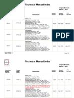 Technical Manual Index (Engine Manuals)