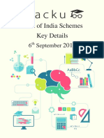 List of All Schemes of Indian Government PDF