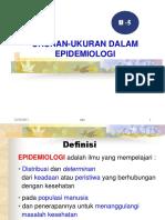H-5   Ukuran Epideminologi