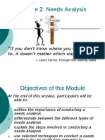 Needs Analysis Learning Module