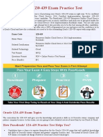 Oracle  1Z0-439 PDF Exam Material - Latest 2018