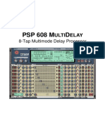 PSP 608 MultiDelay Operation Manual