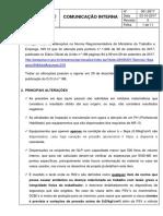 Comunicação Interna 001 (Alteração Nr-13 2017)