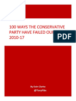 100 Ways the Conservative Party Have Failed Our NHS, 2010-17