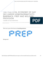The Political Economy of Gay Sex Under Homonormativity_ Bareback, PrEP and Welfare Provision – Society & Space