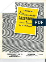 Advanced Jazz Conception for Saxophone- Lennie Niehaus