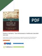 Putere Si Teritoriu. Tara Romaneasca Medievala (Secolele XIV-XVI) PDF (Download eBook)
