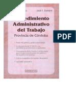 1995 Procedimiento Administrativo Del Trabajo de La Provincia de Córdoba. Mirolo