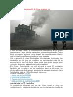 Contaminación de China