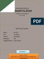 LAPORAN KASUS Dermatitis Atopi