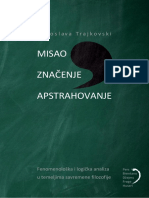 Misao Znacenje Apstrahovanje- Miroslava Trajkovski