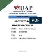 TA Proy de Inv II Cap III Analisis de La Organización Sandro Crisóstomo 2009157990 2
