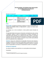 Guía de Material de Entrega Para Publicación de Celebraciones Nacionales e Internacionales