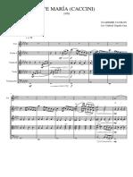 AVE MARÍA (CACCINI) - Copia-Partitura y Partes
