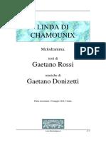Donizetti, Rossi - Linda Di Chamounix - Lindacham