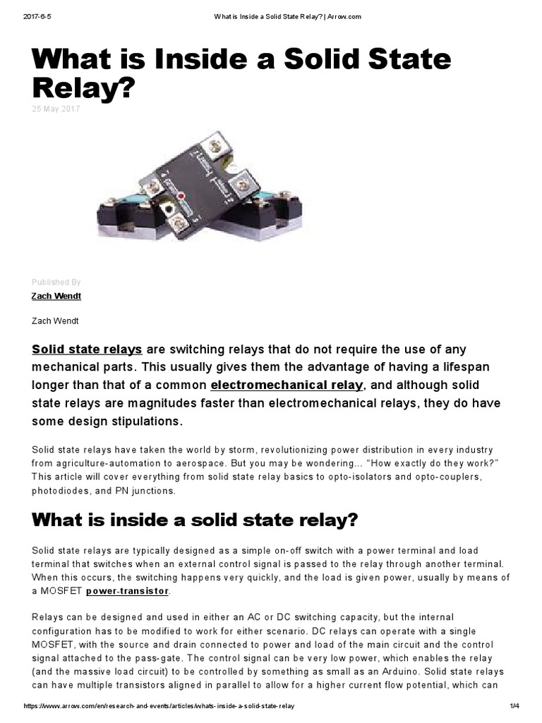 What Is Inside A Solid State Relay Arrow Switch Basics Of