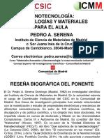 PresentacionNanotecnologiametodologiasymaterialesparaelaula.PedroSerena