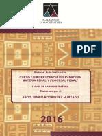 Manual Jurisprudencia Relevante en Materia Penal i Nivel (1)