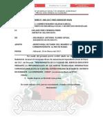 INFORME N°008 ALCANZO CRONOGRAMA DE USO DE CAMIONETA.